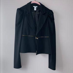 Bar III puff sleeve zipper detailed jacket L